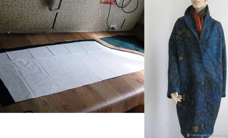 Выкройка-шаблон для валяного пальто РУСАЛКА в 2-х размерах - уже с КУ, Инструменты для валяния, Новосибирск,  Фото №1