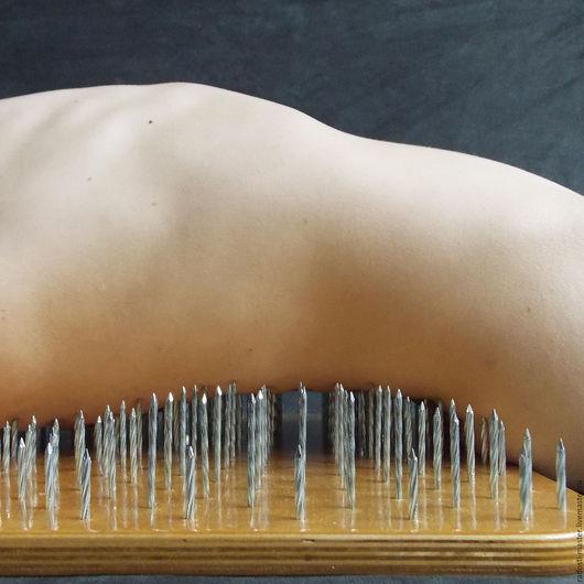 Медитация ручной работы. Ярмарка Мастеров - ручная работа. Купить Универсальная-3 Анатомическая доска с гвоздями для йоги Садху. Handmade.