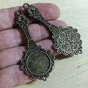 Материалы для творчества handmade. Livemaster - original item Base for the pendant, 18 mm. Art.OKL37. Handmade.
