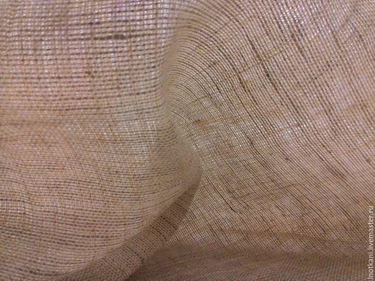 Шитье ручной работы. Ярмарка Мастеров - ручная работа. Купить Лён 100%-ный сетка бело-варёная. Handmade. Серый