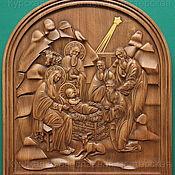 """Картины ручной работы. Ярмарка Мастеров - ручная работа Панно """"Рождество Христово"""". Handmade."""