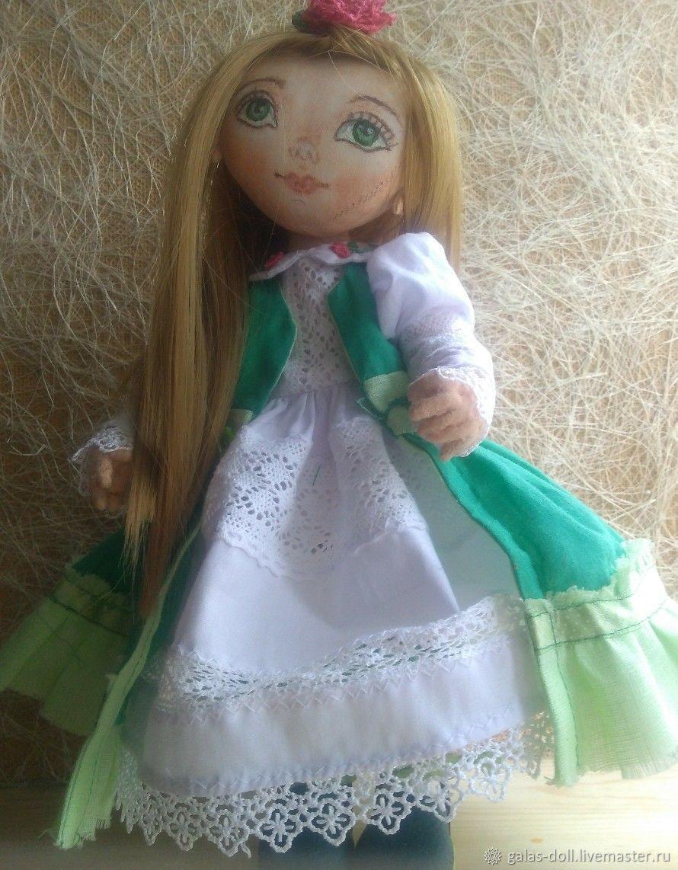 Мила - текстильная кукла, Шарнирная кукла, Тюмень,  Фото №1