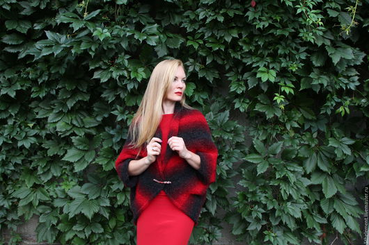 """Кофты и свитера ручной работы. Ярмарка Мастеров - ручная работа. Купить Кофта-болеро """"Торжество любви"""". Handmade. Комбинированный, альпака"""