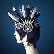 Диадемы ручной работы. Ярмарка Мастеров - ручная работа Фестивальный головной убор с перьями. Handmade.