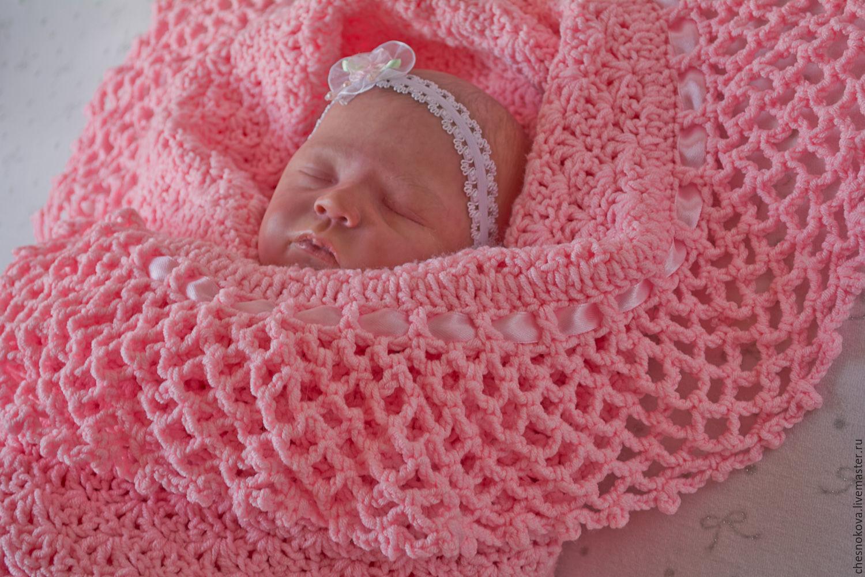 Детские одеяла для новорожденных своими руками вязание 69