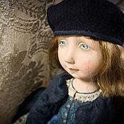 Куклы и игрушки ручной работы. Ярмарка Мастеров - ручная работа Синяя береточка. Handmade.