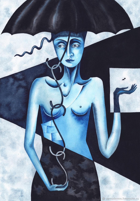 Blue Woman | Женщина синяя, Картины, Москва,  Фото №1