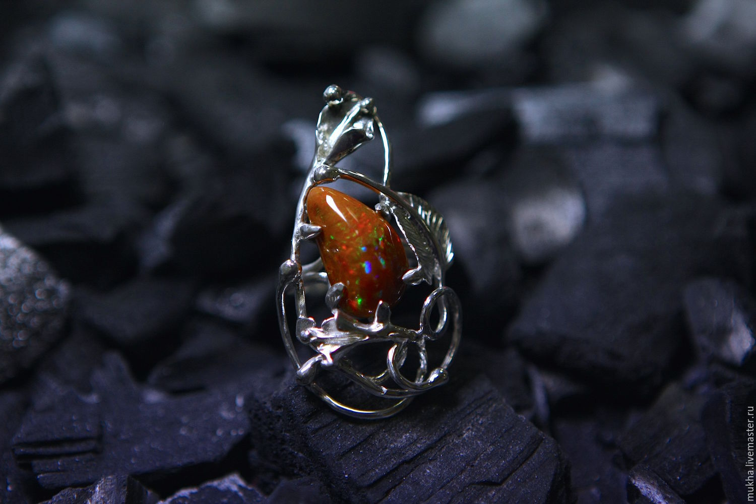 Ring 'Garden Fairy' fire opal, Rings, Moscow,  Фото №1