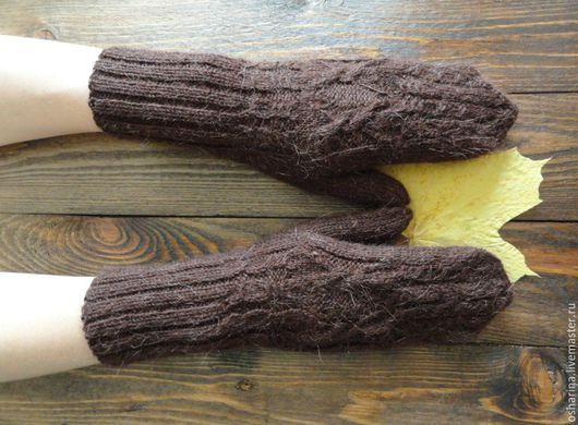 Варежки, митенки, перчатки ручной работы. Ярмарка Мастеров - ручная работа. Купить Варежки ...горькие.... Handmade. Коричневый, варежки с орнаментом