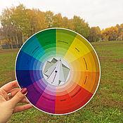 Материалы для творчества ручной работы. Ярмарка Мастеров - ручная работа Цветовой круг, большой. Handmade.