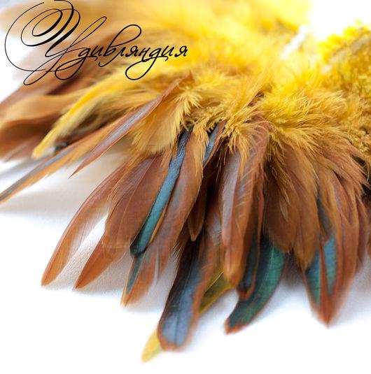 Другие виды рукоделия ручной работы. Ярмарка Мастеров - ручная работа. Купить Перо петуха натуральное, окрашенное №187.. Handmade.