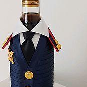Подарки ручной работы. Ярмарка Мастеров - ручная работа Полковник ГИБДД-бутылка в военной форме. Handmade.