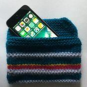 Сумки и аксессуары handmade. Livemaster - original item Knitted cover for iphone se 2, 6, 6plus, 7, 7plus, 8, 8plus, x. Handmade.