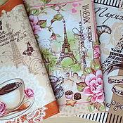 """""""Кофе в Париже""""- подарочный набор полотенец для мечтателей"""