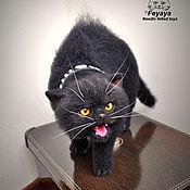 Куклы и игрушки ручной работы. Ярмарка Мастеров - ручная работа Злой кот в Зевс. Handmade.