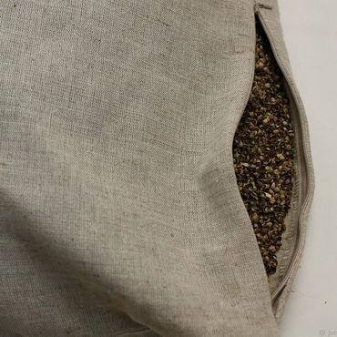 Для дома и интерьера handmade. Livemaster - original item Pillow made of linen with husk hemp seeds