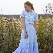 Одежда ручной работы. Ярмарка Мастеров - ручная работа Длинная льняная юбка Николь. Handmade.