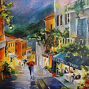 Картины и панно handmade. Livemaster - original item Oil painting the city at night,40/50 cm. Handmade.