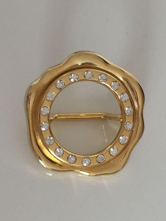 Винтажные украшения. Ярмарка Мастеров - ручная работа. Купить Брошь-кольцо для платка MALKA PARIS. Handmade. Брошь, золотой