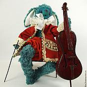 Куклы и игрушки ручной работы. Ярмарка Мастеров - ручная работа Виолончелист (19 см). Handmade.
