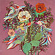 Картины цветов ручной работы. Ярмарка Мастеров - ручная работа. Купить Птицы и анемоны. Handmade. Цветы, птицы, картина для интерьера
