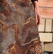 """Одежда ручной работы. Ярмарка Мастеров - ручная работа Валяная юбка """"Шоколадная глазурь"""". Handmade."""