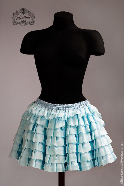 """Юбки ручной работы. Ярмарка Мастеров - ручная работа. Купить юбка """"Фея"""" silk. Handmade. Бирюзовый, желтый, салатовый, юбочка"""