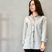 Блузки ручной работы. Ярмарка Мастеров - ручная работа Рубашка из льна. Handmade.