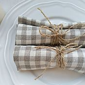 Для дома и интерьера handmade. Livemaster - original item Linen napkin - Tradition in the box. Handmade.
