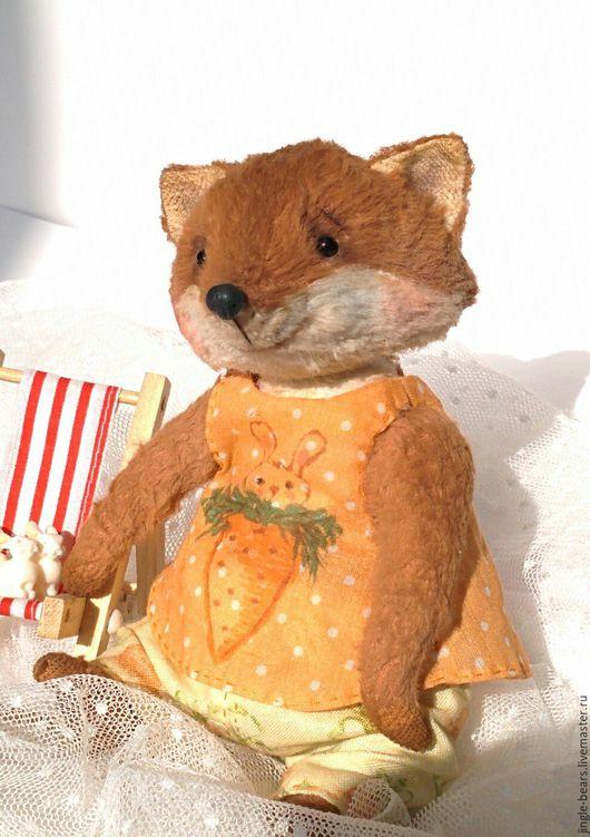 Мишки Тедди ручной работы. Ярмарка Мастеров - ручная работа. Купить Лисичка Златка. Handmade. Рыжий, handmade, древесные опилки