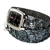 Украшения handmade. Livemaster - original item 4 model - Watches women - natural Python.. Handmade.