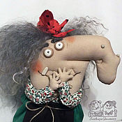 Куклы и игрушки ручной работы. Ярмарка Мастеров - ручная работа Бабка Ёжка - Нос Картошкой. Handmade.