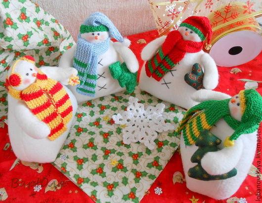 Куклы Тильды ручной работы. Ярмарка Мастеров - ручная работа. Купить Снеговики. Handmade. Белый, игрушки на елку, синтепух