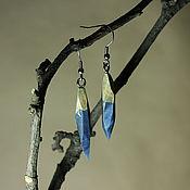 Украшения ручной работы. Ярмарка Мастеров - ручная работа Серьги из Стабилизированного Дерева. Handmade.