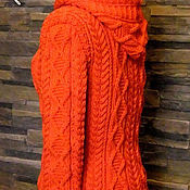 """Одежда ручной работы. Ярмарка Мастеров - ручная работа Свитер-куртка с капюшоном """"Анды"""". Handmade."""