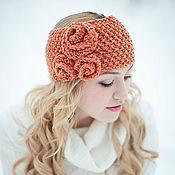 Аксессуары ручной работы. Ярмарка Мастеров - ручная работа вязанная повязка на голову. Handmade.