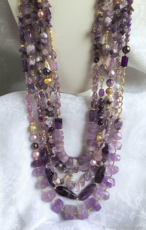 Аметистовое ожерелье SHADES – купить в интернет-магазине на Ярмарке ... 28f72a2b796b4