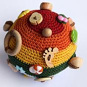 Куклы и игрушки ручной работы. Ярмарка Мастеров - ручная работа Мяч - погремушка. Handmade.