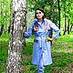 Верхняя одежда ручной работы. Заказать Плащ голубой весенний. Элина 'Элис' (elinasas). Ярмарка Мастеров. Весна, природа