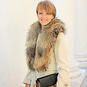 Аксессуары handmade. Livemaster - original item Real raccoon fur collar / Real fur collar. Handmade.