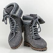 """Обувь ручной работы. Ярмарка Мастеров - ручная работа Ботинки из войлока """"Graphite"""". Handmade."""