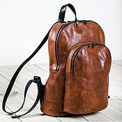 Сумки и аксессуары ручной работы. Ярмарка Мастеров - ручная работа Double zip backpack. Handmade.