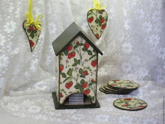 """Кухня ручной работы. Ярмарка Мастеров - ручная работа. Купить Чайный домик """"Земляничное настроение"""". Handmade. Комбинированный, деревенский стиль"""