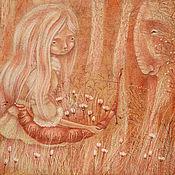 Картины и панно ручной работы. Ярмарка Мастеров - ручная работа Лесной. Картина фэнтези. Дух леса, девушка, сказка.. Handmade.