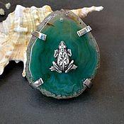 Украшения handmade. Livemaster - original item Ring Monetary with agate. Handmade.