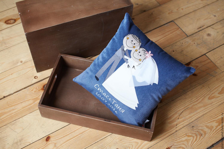 Подарок молодоженам подушка 14