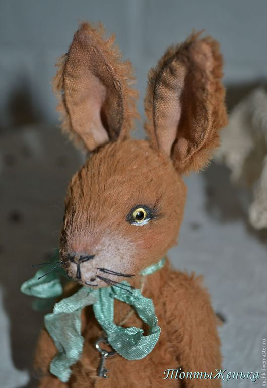 Мишки Тедди ручной работы. Ярмарка Мастеров - ручная работа. Купить Заяц Ося. Handmade. Тедди, заяц тедди