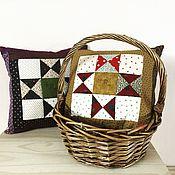 """Для дома и интерьера ручной работы. Ярмарка Мастеров - ручная работа Две Пэчворк подушки , узор """"звезда Огайо"""", ручная работа. Handmade."""