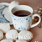 Посуда handmade. Livemaster - original item White nights. Mug handmade ceramics. Handmade.