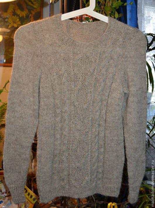 """Кофты и свитера ручной работы. Ярмарка Мастеров - ручная работа. Купить Вязаный свитер """"Деревенька моя"""". Handmade. Серый, свитер"""